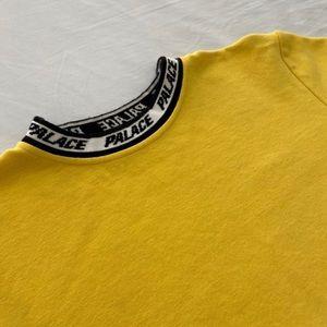 Palace Logo Collar Yellow Shirt